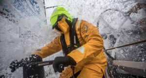 Most of the time we seemed to be making good speed or better with 'firehose' conditions on deck.