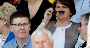 DUP leader Arlene Foster at the Ulster GAA Final: she is reaching out to people and groups who need to be reassured that the union and membership of the UK outweigh any other constitutional alternative. Photograph: James Crombie/INPHO