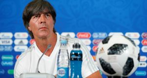 Joachim Löw: under his stewardship Germany  have had the odd scare before but ultimately always made it to at least the semi-final stage of the World Cup. Photograph: John Sibley/Reuters