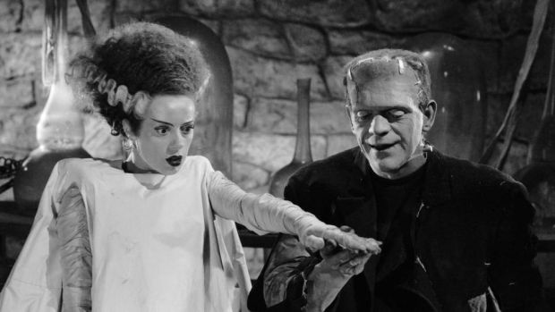 Bride of Frankenstein: Elsa Lanchester and Boris Karloff in the 1935 film
