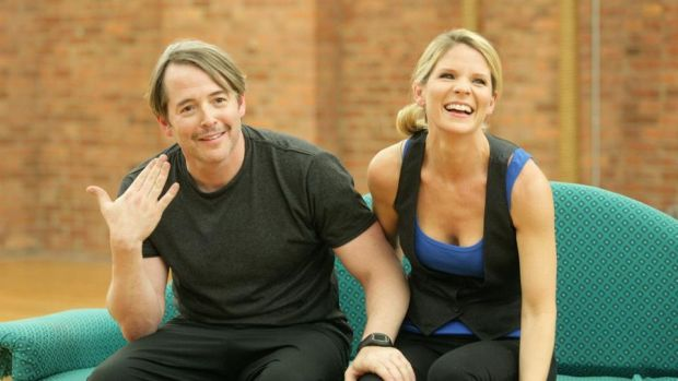 Broadway stars: Kelli O'Hara with Matthew Broderick during rehearsals for Nice Work If You Can Get It in 2012. Photograph: Jim Spellman/WireImage/Getty