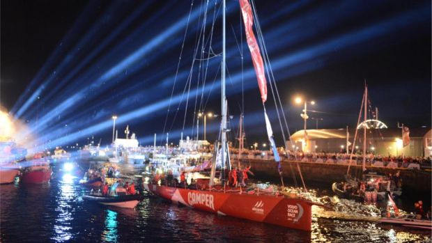 Volvo Ocean Race Festival: thousands of people came to the city when the sailing content visited in 2012. Photograph: Dara Mac Dónaill