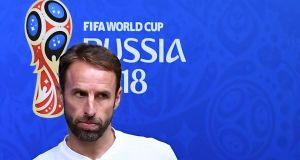 "Gareth Southgate: ""We want to keep on winning football games and develop a winning mentality."" Photograph: Attila Kisbenedek/AFP/Getty Images"