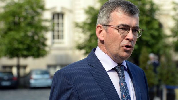 Drew Harris at Government Buildings on Tuesday. PSNI chief constable George Hamilton told MPs that Mr Harris's appointment will strengthen relationships and strategic co-operation between North and South. Photograph: Cyril Byrne