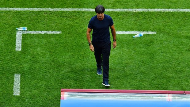 Germany manager Joachim Low is already facing questions about his future. Photo: Dylan Martinez/Reuters