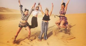 Lauren Reilly (second from left) and friends have fun in the sun in Abu Dhabi