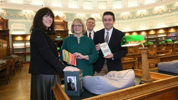 Seamus Heaney: Catherine, Marie, Mick and Chris Heaney at the National Library of Ireland