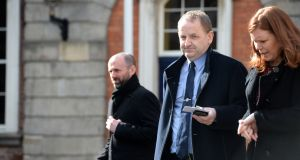 Sgt Maurice McCabe after giving evidence at the Charleton Tribunal. Photograph: Dara Mac Dónaill / The Irish Times