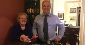 Cashel House Hotel owner Kay McEvilly with her son, Frank.