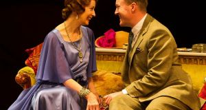 Ingrid Craigie and Stephen Swift in the Gate Theatre production of 'Hay Fever' by Noel Coward. Photograph: Patrick Redmond
