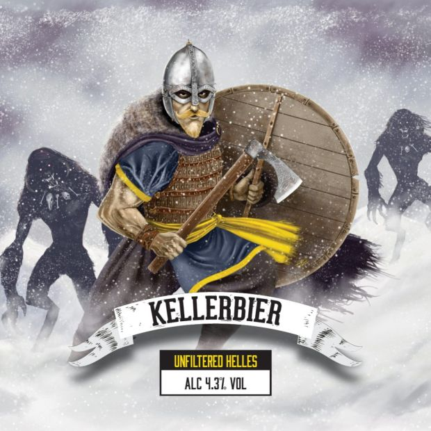 YellowBelly's Kellerbier 4.3% is a light and refreshing German style lager