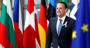 Taoiseach Leo Varadkar: 'If Belgium wins, England will probably get an easier ride in the next round. So perhaps it's one of those win-win scenarios.' Photograph: Francois Lenoir/Reuter