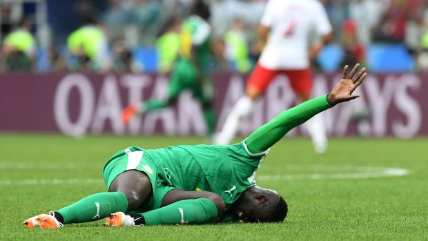 """Gerrup outta that, you're alright."" When Mbaye Niang collapsed in a heap after a challenge, looked mortally wounded, only to return to the field to score for Senegal against Poland. ""A Lazarus job, that,"" said Kerr."