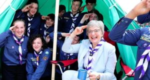 Minister for Children and Youth Affairs Katherine Zappone at 168th St Aengus Scout Den, Tallaght.