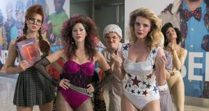GLOW: Kate Nash, Jackie Tohn, Kimmy Gatewood, Betty Gilpin, Shakira Barrera. Photograph: Netflix