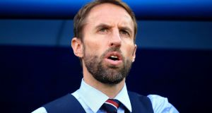 England manager Gareth Southgate: he had his  own unhappy experience of not playing a minute at one tournament. Photograph: PA