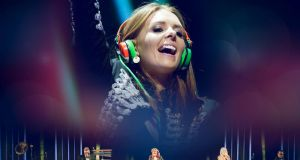 Commercial collab: 2fm presenter and DJ Jenny Greene performing with the RTÉ Concert Orchestra.