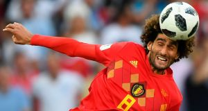 Belgium midfielder Marouane Fellaini has extended his contract with Manchester United. Photograph: Attila Kisbenedek/AFP/Getty