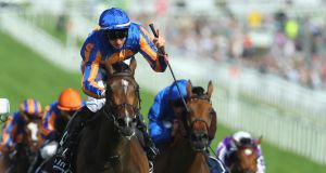 Donnacha O'Brien rides Forever Together to victory in the Investec Oaks at at Epsom Downs in June. Photograph: Getty Images