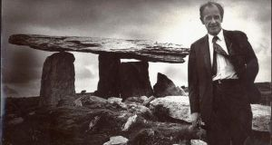 Sir Sidney Nolan visiting the Burren. Photograph: The Burren College of Art