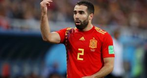 Spain and Real Madrid fullback Dani Carvajal. Photograph: Francois Nel/Getty
