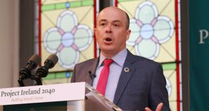 Minister for Communications, Climate Action and Environment Denis Naughten: BNRG Renewables hopes he will set out the quantum of an annual auction for the years ahead.  Photograph: Nick Bradshaw