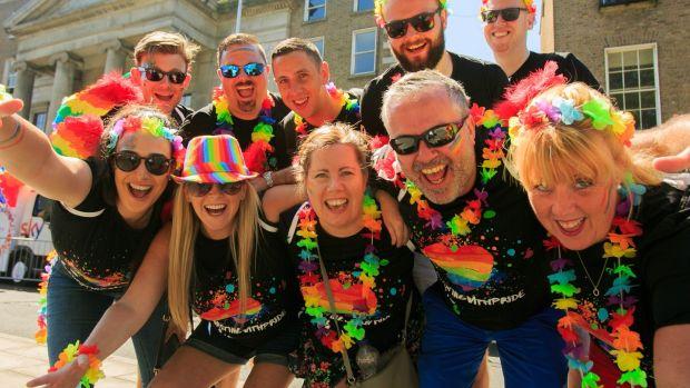 Tesco staff participating in the Dublin Pride Parade. Photograph: Gareth Chaney/Collins