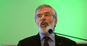 Former Sinn Féin leader Gerry Adams has again called for a referendum on a united Ireland. File photograph: Dara Mac Donaill/The Irish Times.