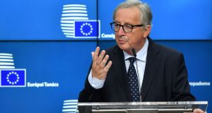 President of the European Commission Jean-Claude Juncker is  to travel to Washington this month for a meeting with US president Donald  Trump. Photograph:  Ben Stansall/Getty Images
