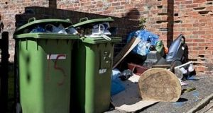 The new regulations will allow local authorities to demand proof from homes and businesses that they are using an authorised waste disposal service. Photograph: Getty Images