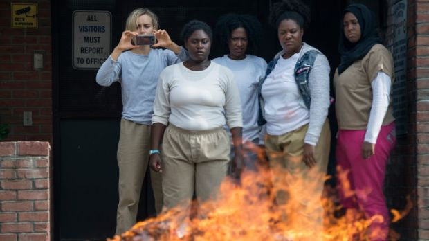 A scene from the last season of 'Orange is the New Black'. Photograph: Netflix