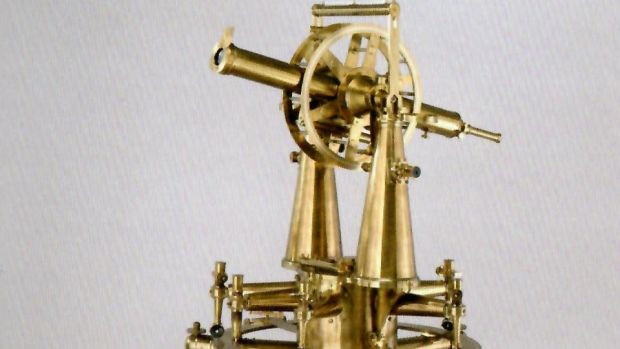 A high-precision theodolite used in the measurement of the Lough Foyle baseline, 1828-29.
