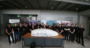 The Irish team comprises 47 student engineers, physicists, computer scientists and designers from DCU, Trinity, UCD, DIT, IT Carlow and Maynooth University.   Photograph: Nick Bradshaw
