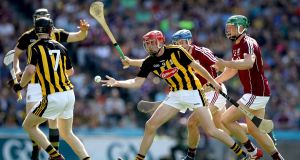 Kilkenny's James Maher in action during the Leinster final against Galway at Croke Park. Photograph: Ryan Byrne/Inpho