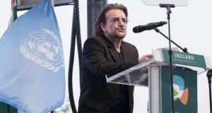 Bono joked that 'the worst thing' he could say about Canada was that they are 'nice'. Photograph: Kim Haughton