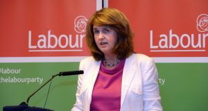 Deputy Joan Burton had to leave a community policing meeting early after hearing about the alleged break-in at her home. File photograph: Cyril Byrne