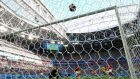 Emil Forsberg of Sweden scores his team's first goal past goalkeeper Yann Sommer of Switzerland during the World Cup  Round of 16 match  at Saint Petersburg Stadium. Photograph:  Francois Nel/Getty Images