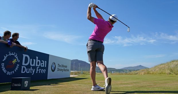 Rory McIlroy On The 17th Tee During Practice For Irish Open At Ballyliffin Golf Club