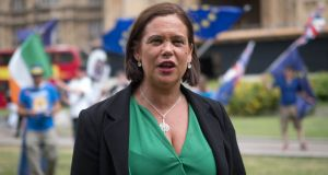 Sinn Féin's Mary Lou McDonald said  the 'person who occupies the highest office in the land, ought to have an electoral sanction'. Photograph: PA Wire