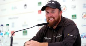 Shane Lowry speaking on practice day for the Irish Open at  Ballyliffin Golf Club in  Co Donegal.  Photograph: Oisin Keniry/Inpho