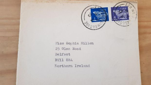 The envelope addressed by Seamus Henaey to Sophia Hillen (sic). He was a poet, not a proofreader
