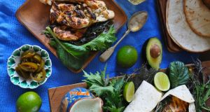 Tequila and lime chicken with jalapeño yogurt