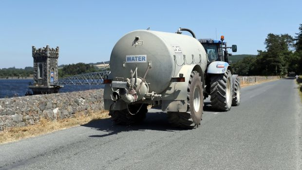 A water tanker near Vartry Reservoir in Co Wicklow. Photograph: Niall Carson/PA Wire