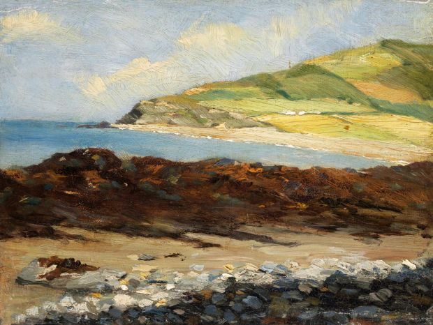 Roderic O'Conor: Between the Cliffs, Aberystwyth, from about 1883-4. Photograph © National Gallery of Ireland