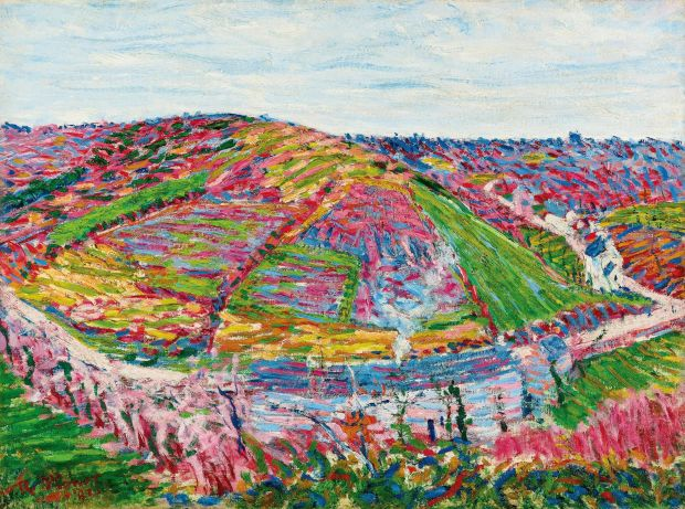 Roderic O'Conor: Landscape, Pont-Aven, from 1892. Photograph courtesy Trustees of the WR Warburton 1996 Settlement/Private Collection/Sotheby's