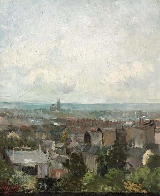 Vincent van Gogh: Rooftops in Paris, from 1886. Photograph © National Gallery of Ireland