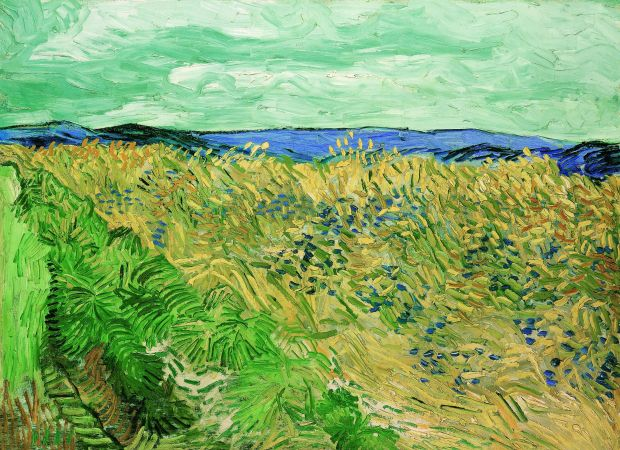 Vincent van Gogh: Wheat Field with Cornflowers, from July 1890. Photograph: Peter Schibli/Fondation Beyeler