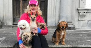 Lorraine Mulligan and her four-legged friends