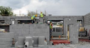 A May 2017 file photograph of social housing being built in Clondalkin, Dublin. Photograph: Irish Times