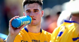 A dejected Jamie Malone rehydrates after his side's All-Ireland qualifier Round 3 defeat to Armagh at the Athletic Grounds, Co Armagh. Photograph: Inpho